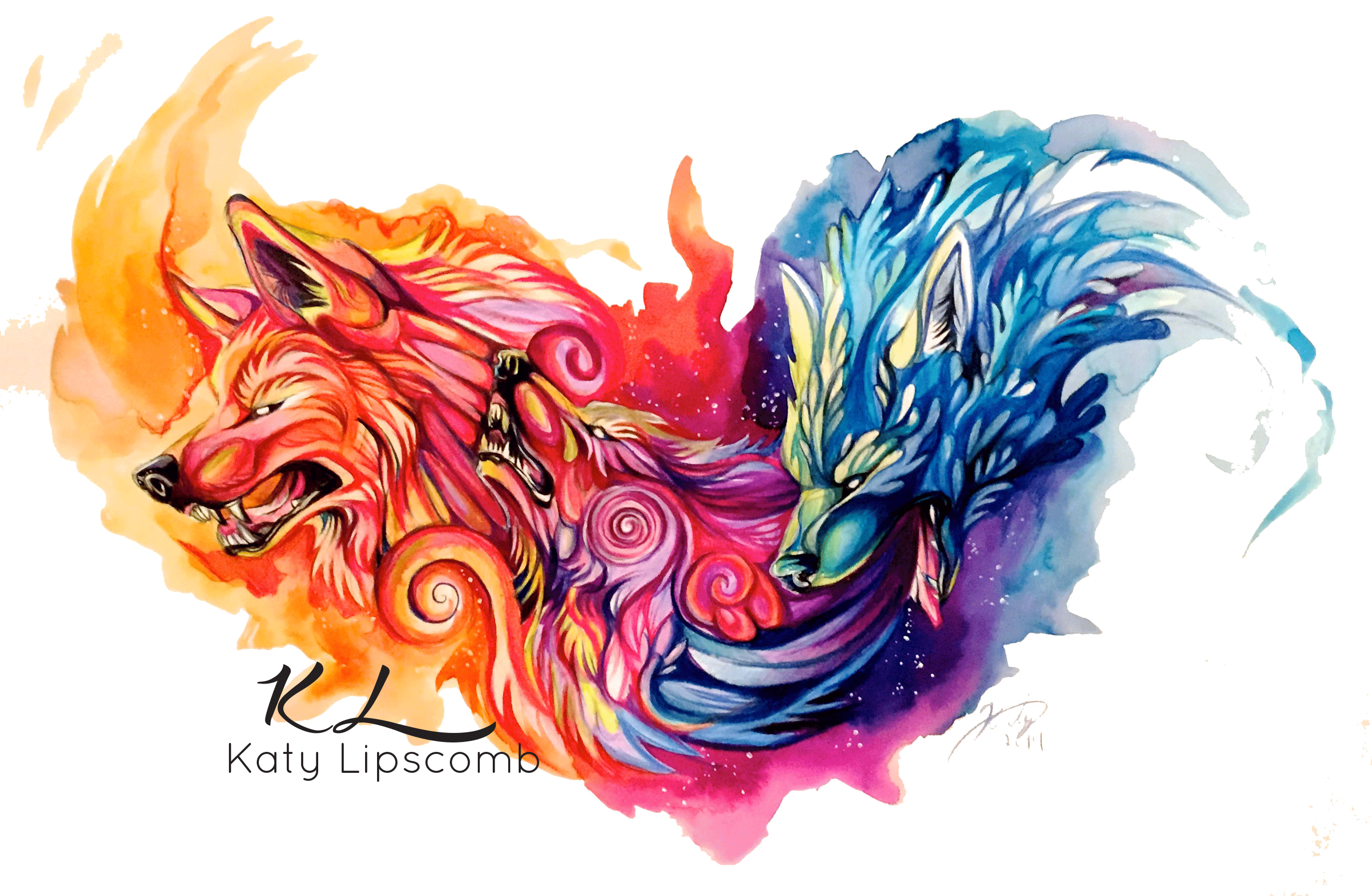 mystic wolves 8x10in print katy lipscomb online store powered