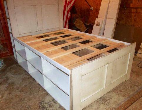 twin platform storage captain's bed on storenvy