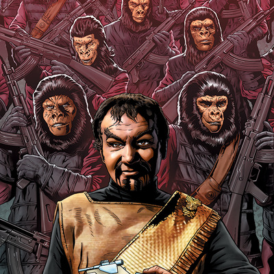 Star trek/planet of the apes: the primate directive artist print