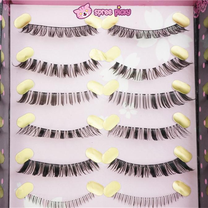 Upper and Lower 5 Pairs] Natural Make-up False Eyelashes SP151779 ...