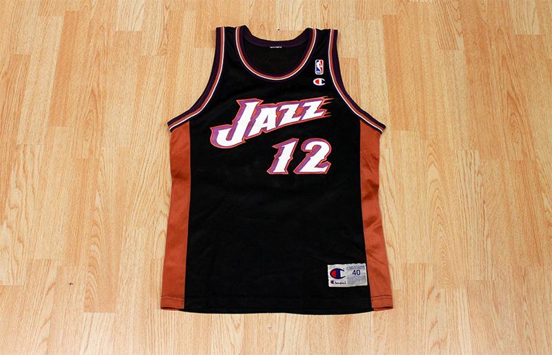 Slam Vintage John Stockton Jazz Jersey Old School