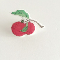 Litchi Fruit Illustrated Pin  medium photo