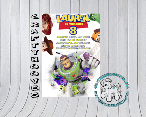 Toy Story Disney Birthday Woody Buzz Jessie Rex Party Invitations U Print Custom World Halloween