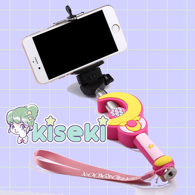 Sailor moon - selfie stick - harajuku, kawaii, fairy kei, pop kei, ulzzang - free shipping