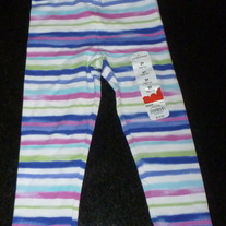 Multi Color Stripe Leggings-NEW-Jumping Beans Size 2T