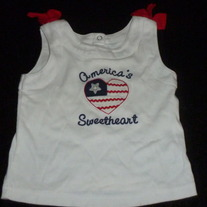 America's Sweetheart Sleeveless Shirt-Gymboree Size 2T