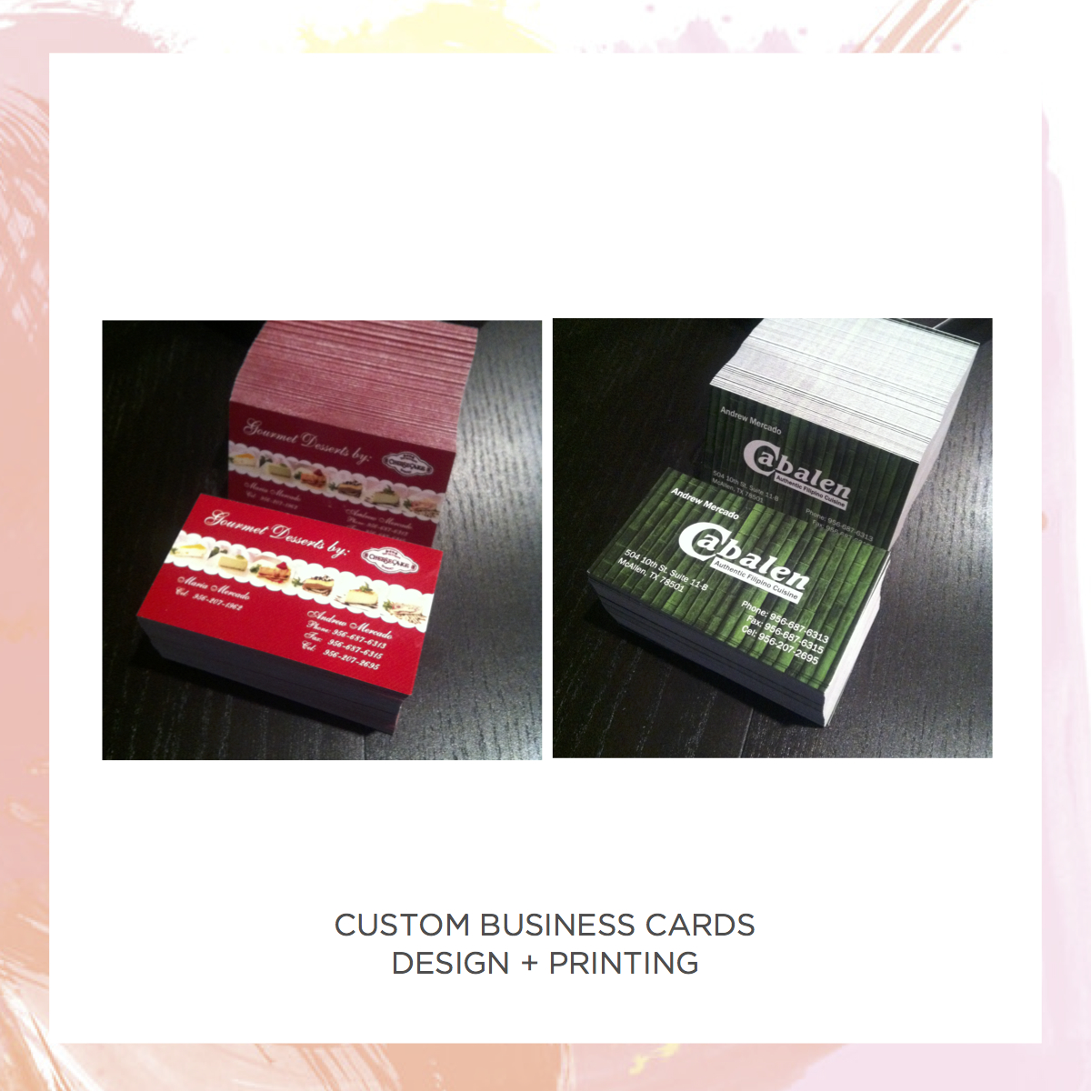 Custom business cards elei ink and paper online store powered by custom business cards thumbnail 2 colourmoves