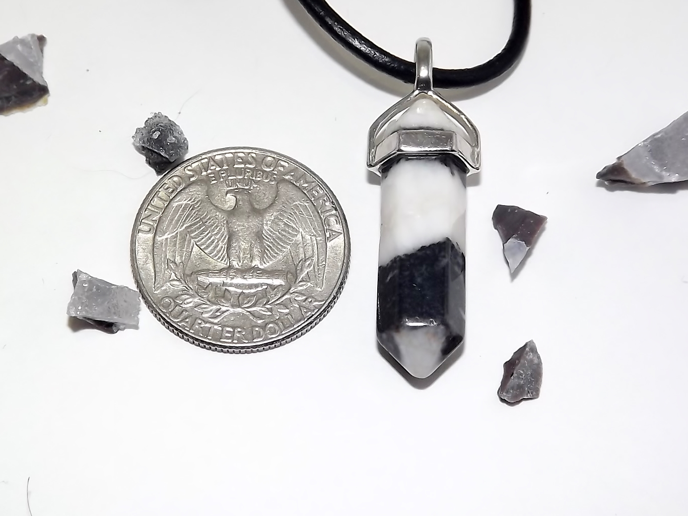 Zebra jasper crystal necklace urban kitty co online for Jewelry store dickinson nd
