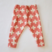 organic cotton plus three leggings in coral pink