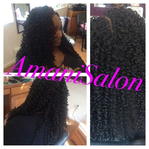Crochet braids loose hair sewin weave and hair for Crochet braids salon