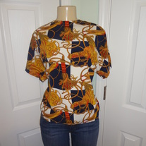 SOLD OUT! Vintage Plus Size White Chain Shirt Size XL!