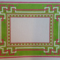Pink & Green Geometric Picture Frame