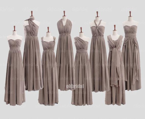 Convertible bridesmaid dresses, chiffon bridesmaid dresses ...