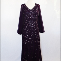 Purple Sequined Formal Dress