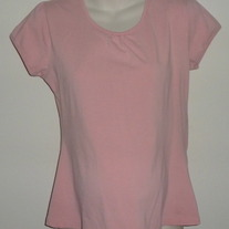 Peach Short Sleeve Shirt-Tomorrows Mother Size Medium  SF0413