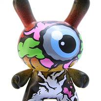 "Zueye Tree Top Blue 3"" Kidrobot Dunny"