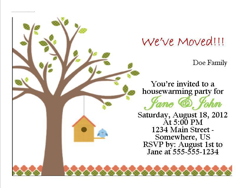 Housewarming Invitation   Southern Desktop Publishing  Online
