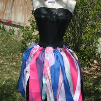 """Pretty Princess"" Sassy Strip Skirt with headband"
