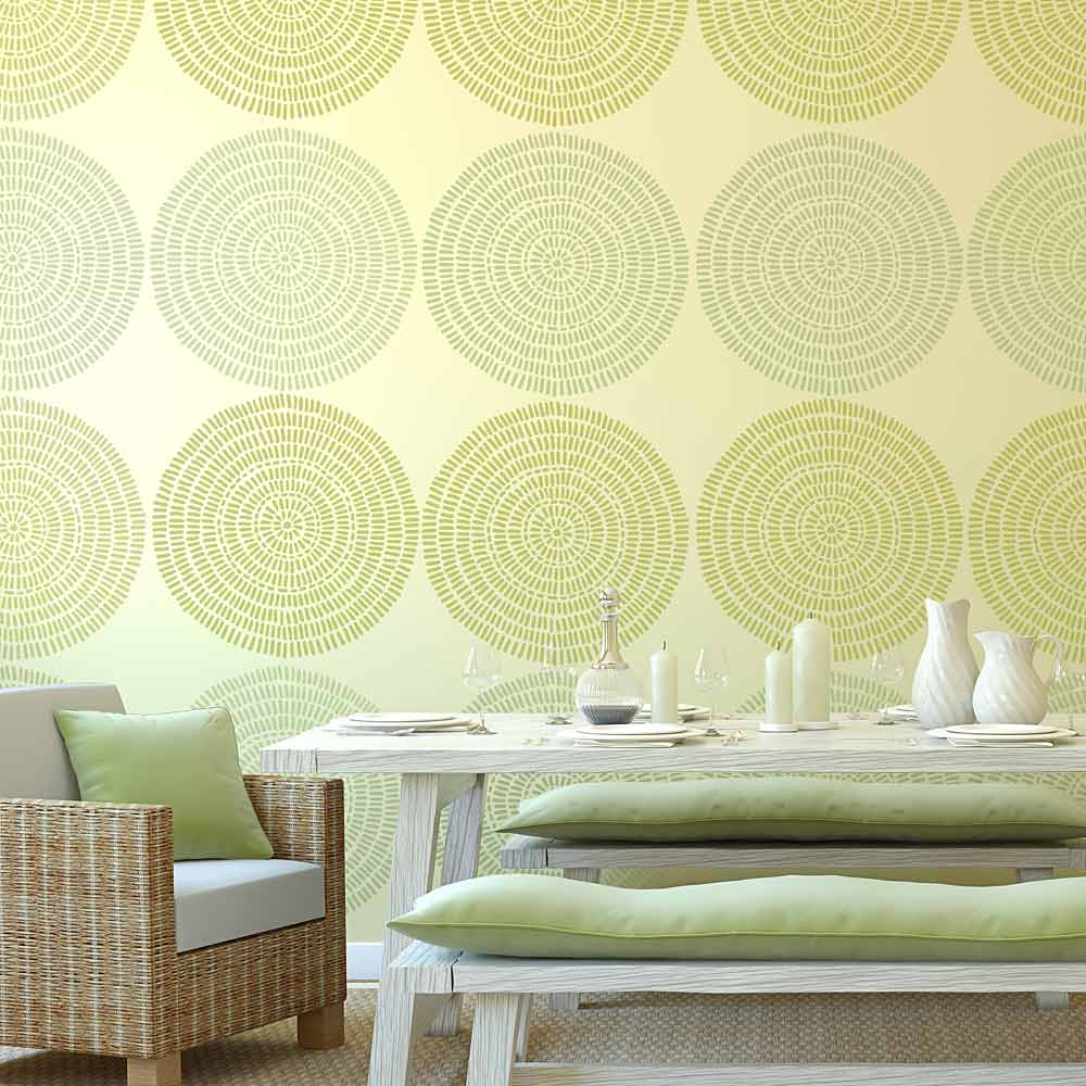 Maloca Wall Art Stencil - Easier than Wallpaper - By Cutting Edge ...
