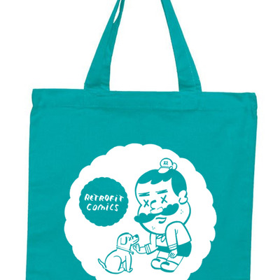 Retrofit comics tote bag designed by steven weissman