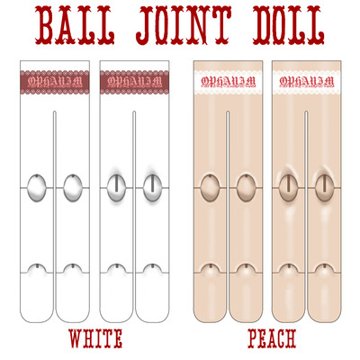 Ball joint doll tights