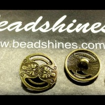 Antique Bronze Button 18mm