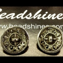 Antique Silver Button 20mm