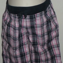 Pink/Black Plaid Shorts-Zoey and Beth Size Small  CL413