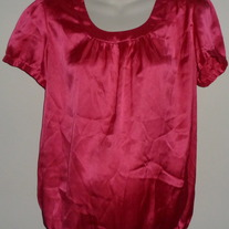Pink Silk Shirt-Motherhood Maternity Size Medium  CL413