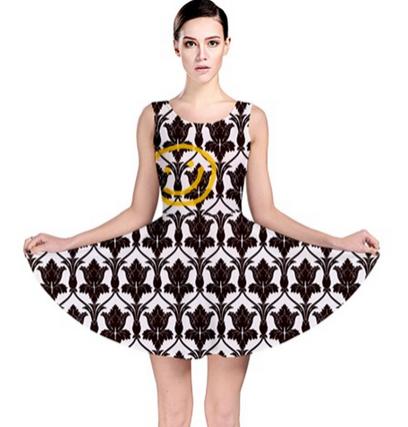 Sherlocks Wallpaper Skater Dress XS 3XL