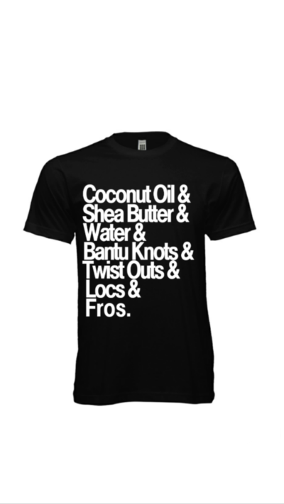 shirt, natural, natural hair, hair products, product junkie