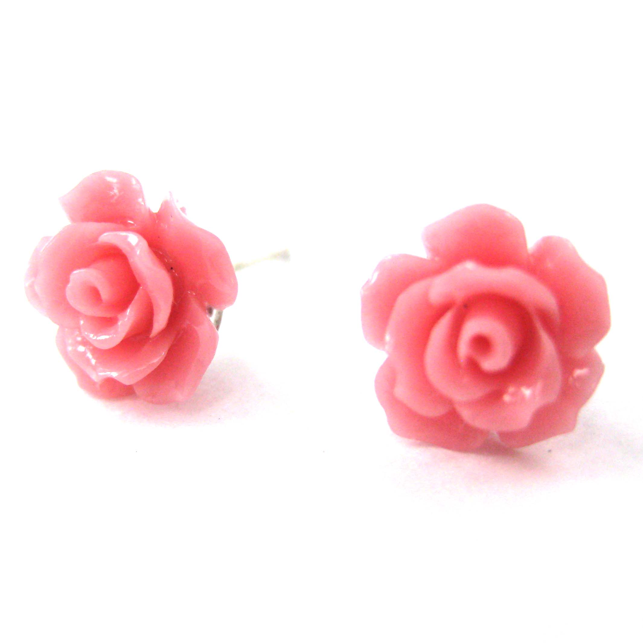 cerise products magnolia cz pink silver stud women earrings sterling enamel bloom for jewelry pale