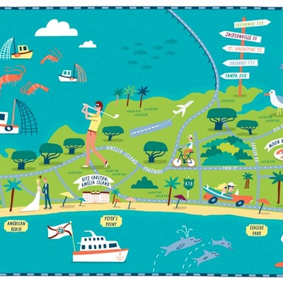 Amelia Island Illustration · 904 Paper Co. · Online Store Powered by ...