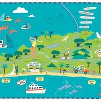 Amelia Island Illustration