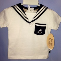 Imagewear 2pc Set- Navy & White Sailor Shorts Outfit