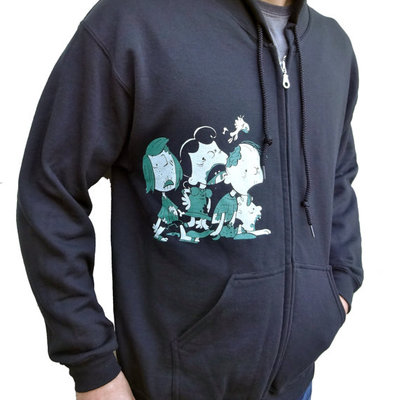 Zombie charlie brown hoodie by imps and monsters and revival ink