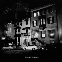 Downtown Savannah, Holga BW