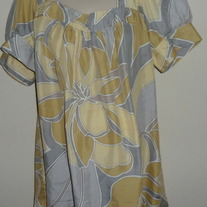Yellow/Silver Silk Top-ANA Size 1X  CL413