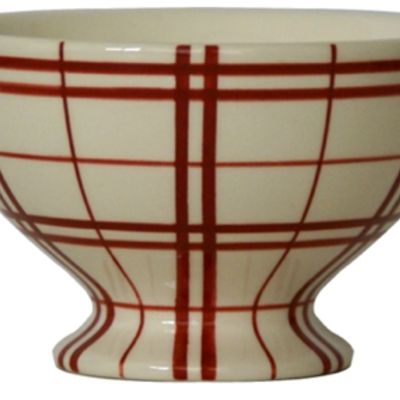 Campagne red plaid bistro bowl
