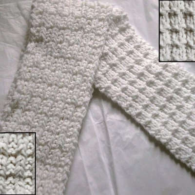 Double waffle scarf