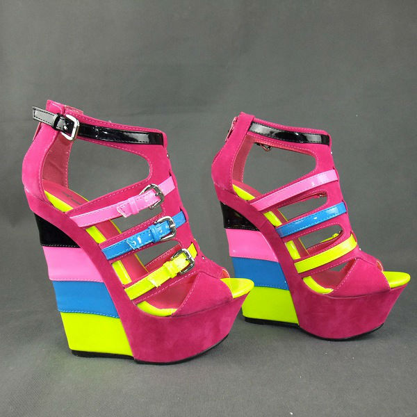 Multi Colored Candy Platform Wedge · Zmart · Online Store Powered ...