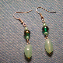 Light & Dark Green Earrings