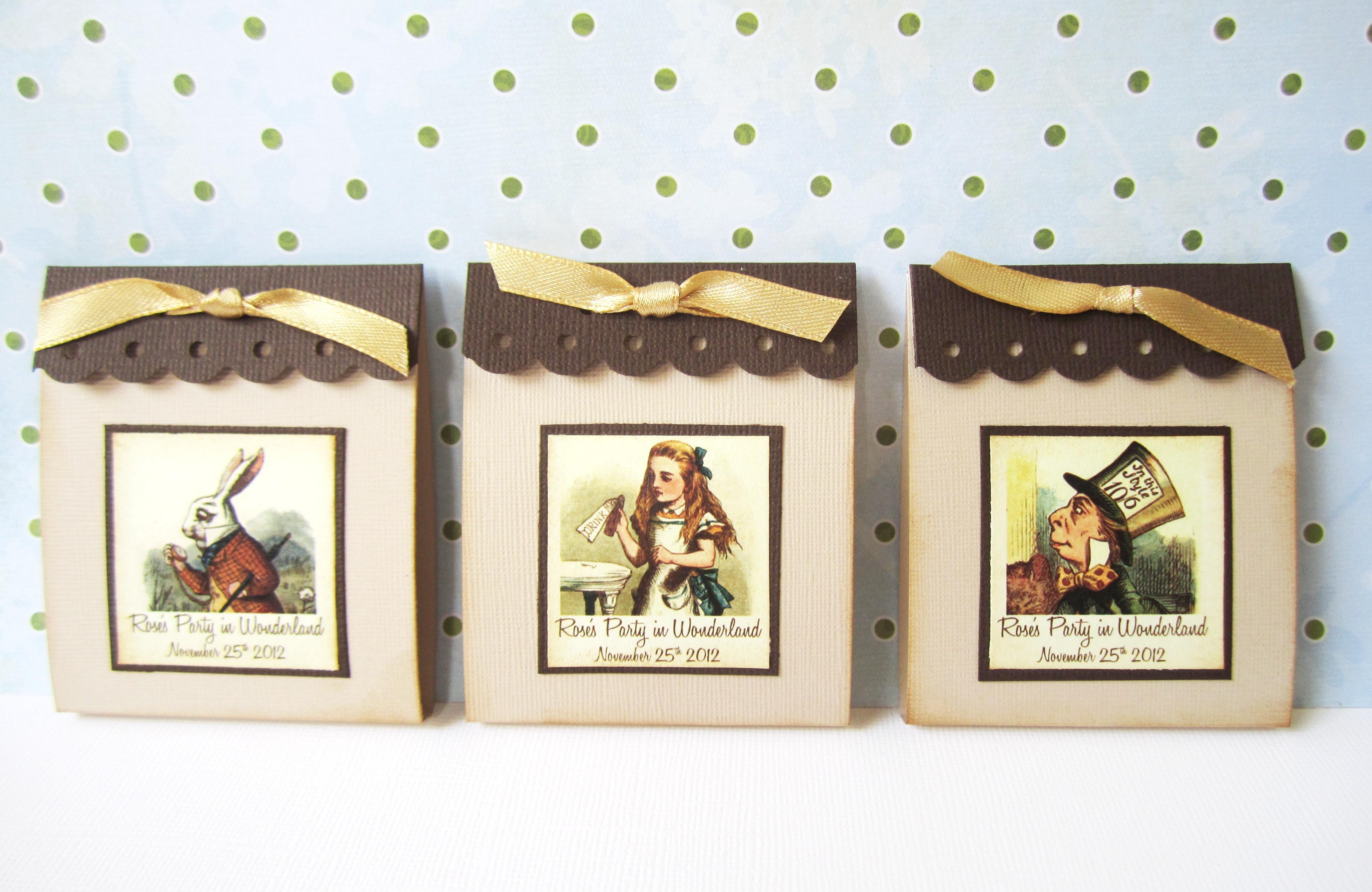 Personalized Alice in Wonderland Teabag Party Favors · Adorebynat ...