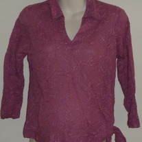 Dark Pink Top with Side Tie-Oh Baby By Motherhood Size Small  GS513