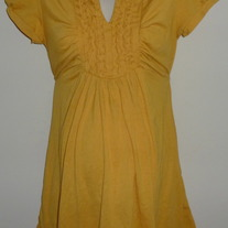 Dark Yellow Short Sleeve Shirt-Siren Lily Maternity Size Large  GS513
