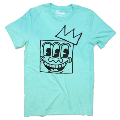 Keith haring - basquiat - t-shirt 'king of ny' (mint) by american anarchy brand
