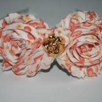 """Just Peachy"" shabby sass headband"