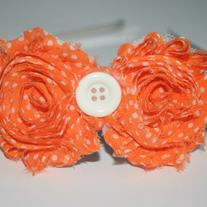 """Orange Ya Cute"" Shabby Sass headband"