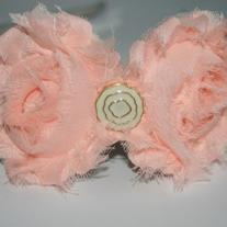 """Peachy Queen"" shabby sass headband"
