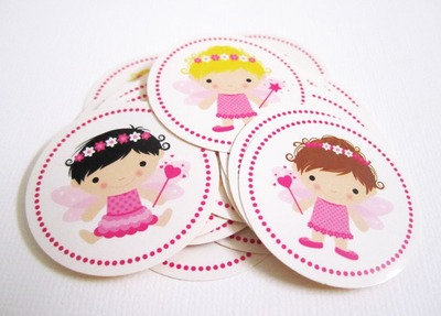 36 Cute Fairy Stickers Labels